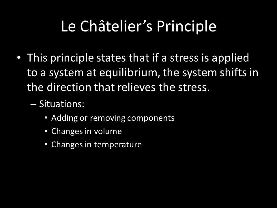Le Châtelier's Principle