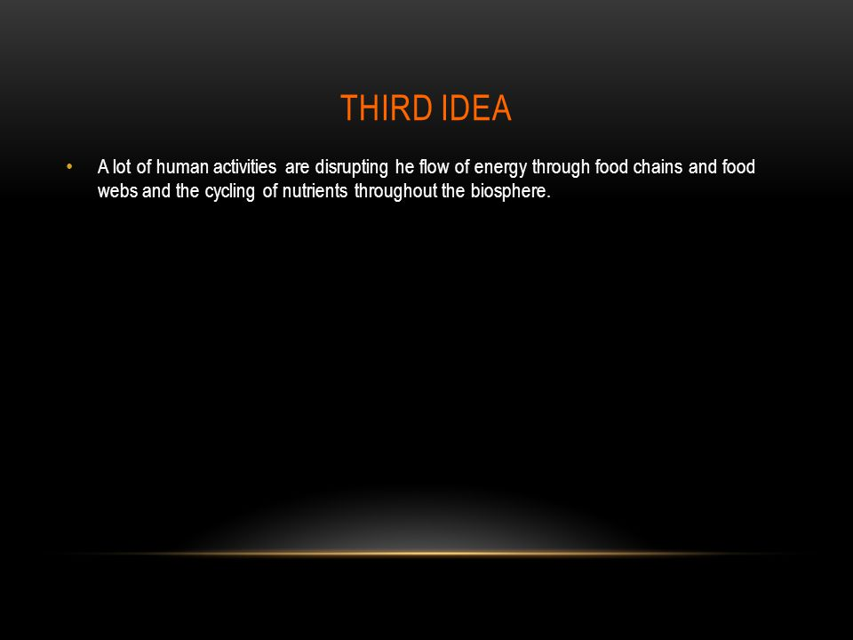Third idea