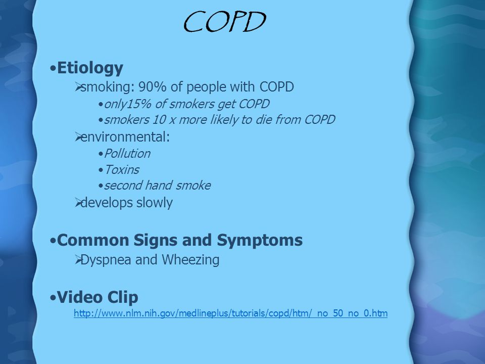 COPD Etiology Common Signs and Symptoms Video Clip