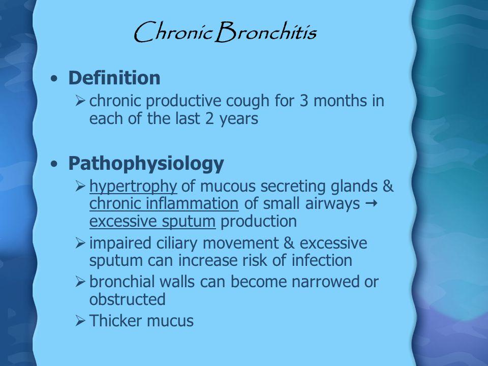 Chronic Bronchitis Definition Pathophysiology