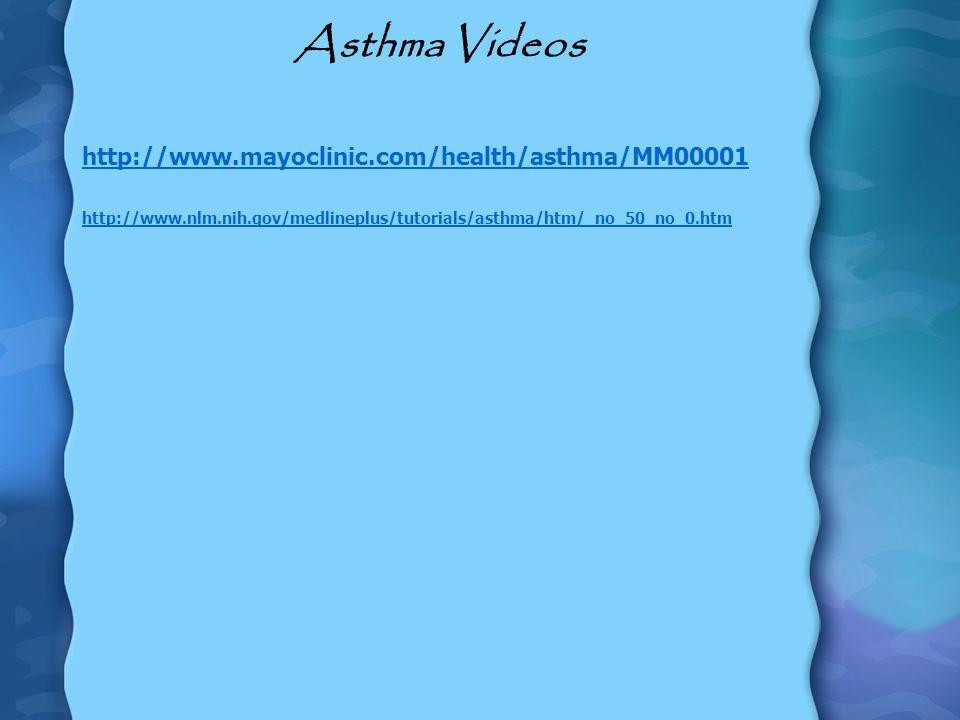 Asthma Videos http://www.mayoclinic.com/health/asthma/MM00001