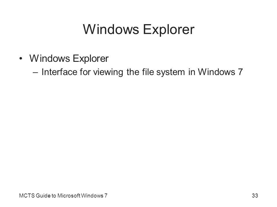 Windows Explorer Windows Explorer