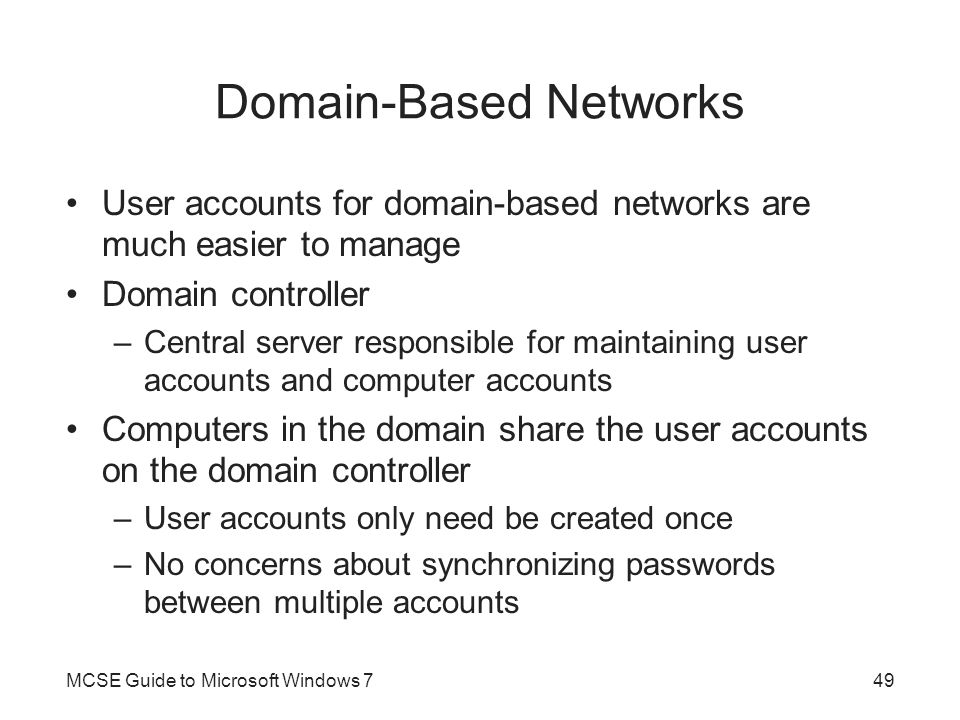 Domain-Based Networks
