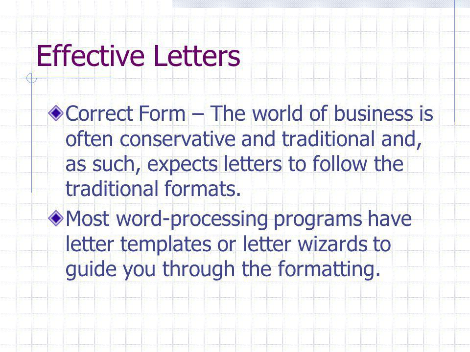 Effective Letters