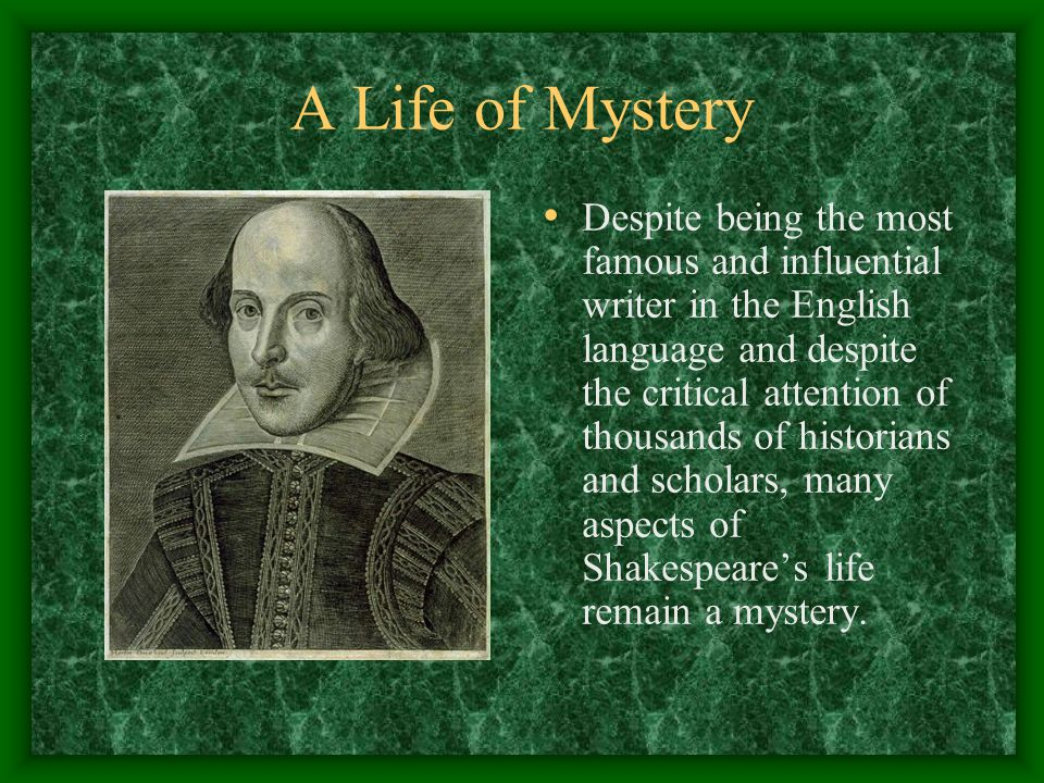 A Life of Mystery