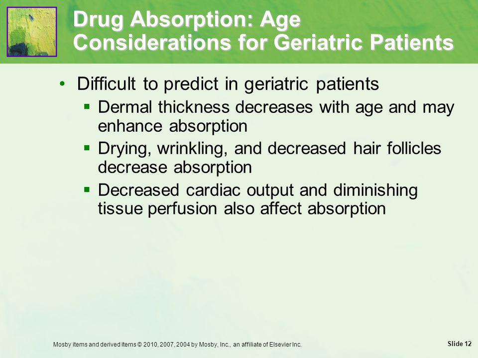 Drug Absorption: Age Considerations for Geriatric Patients