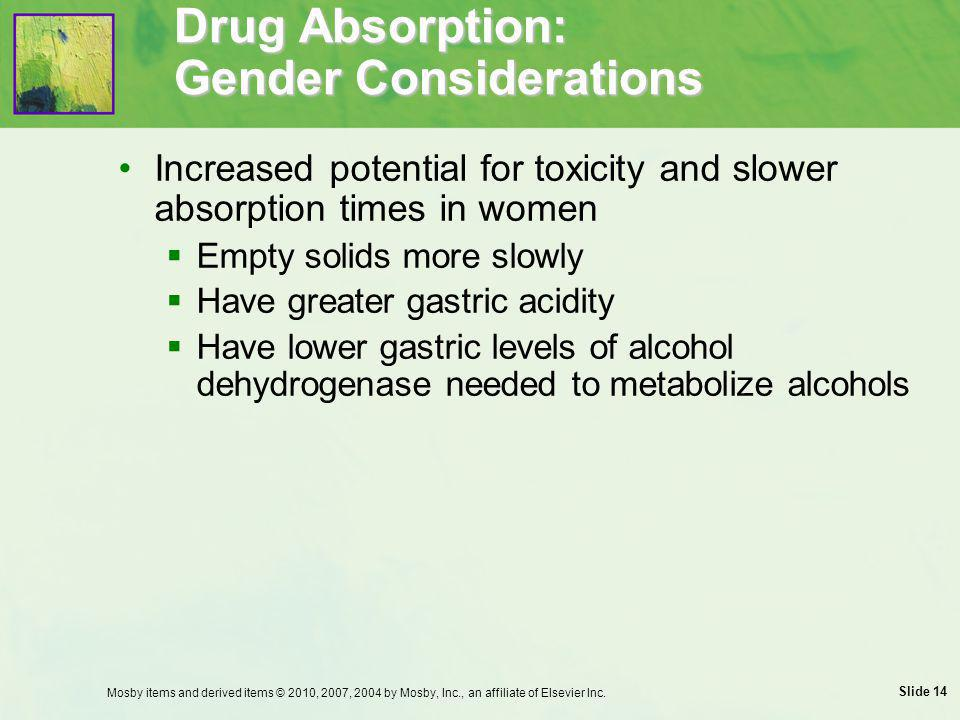 Drug Absorption: Gender Considerations