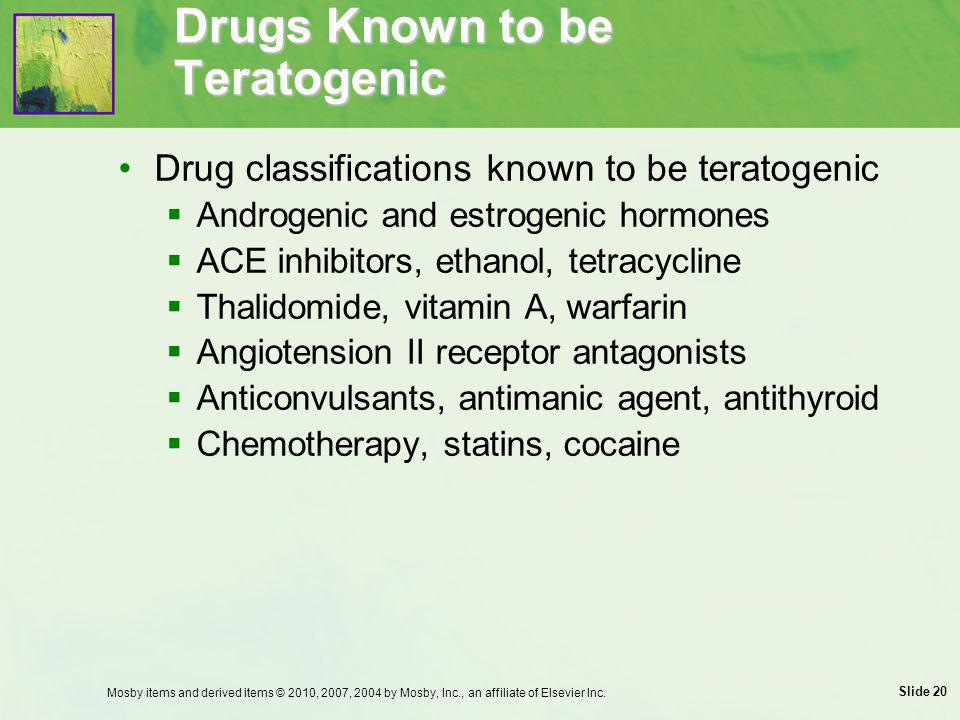 Drugs Known to be Teratogenic