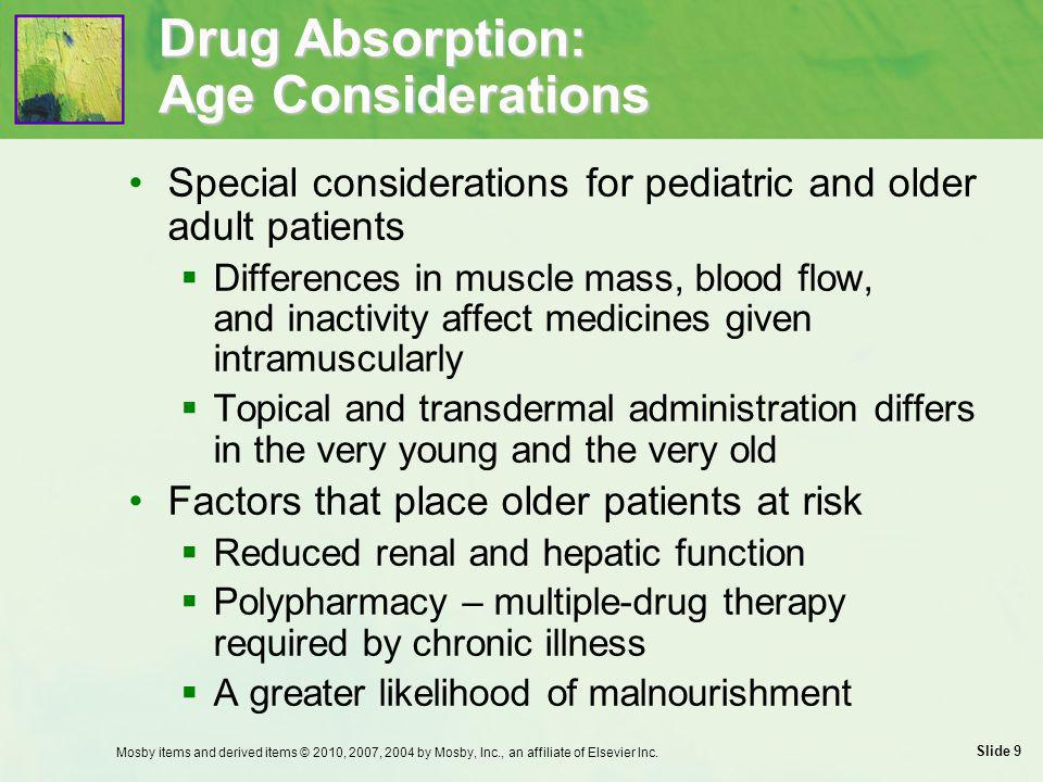 Drug Absorption: Age Considerations