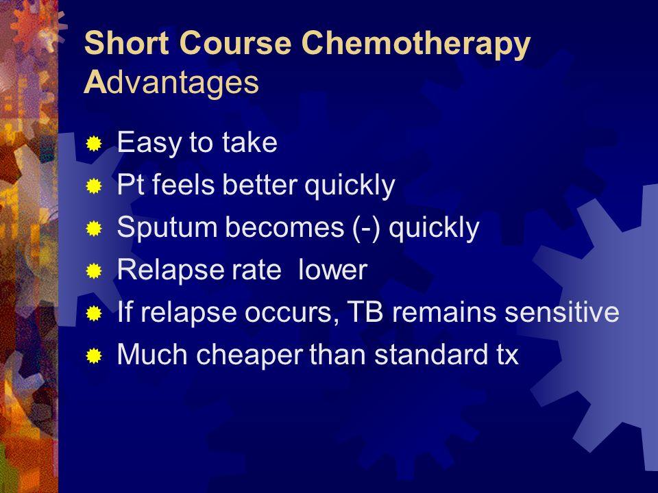 Short Course Chemotherapy Advantages