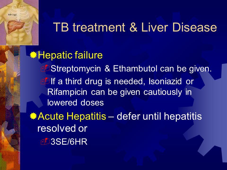 TB treatment & Liver Disease