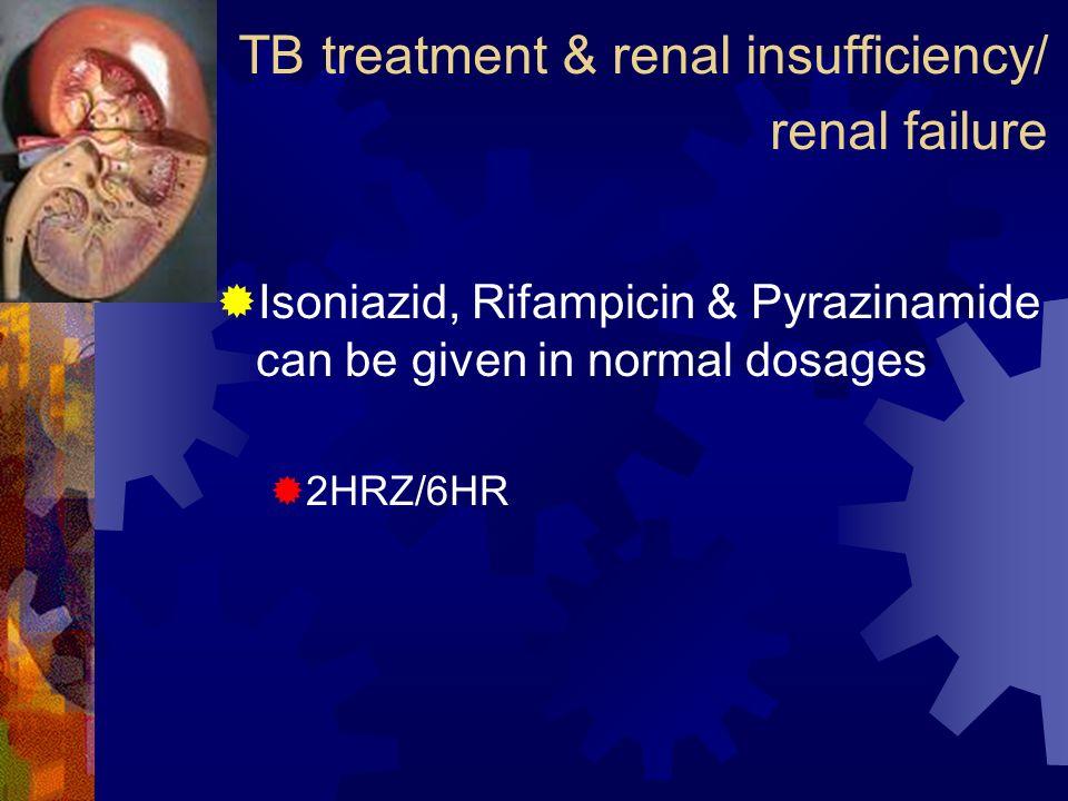 TB treatment & renal insufficiency/ renal failure