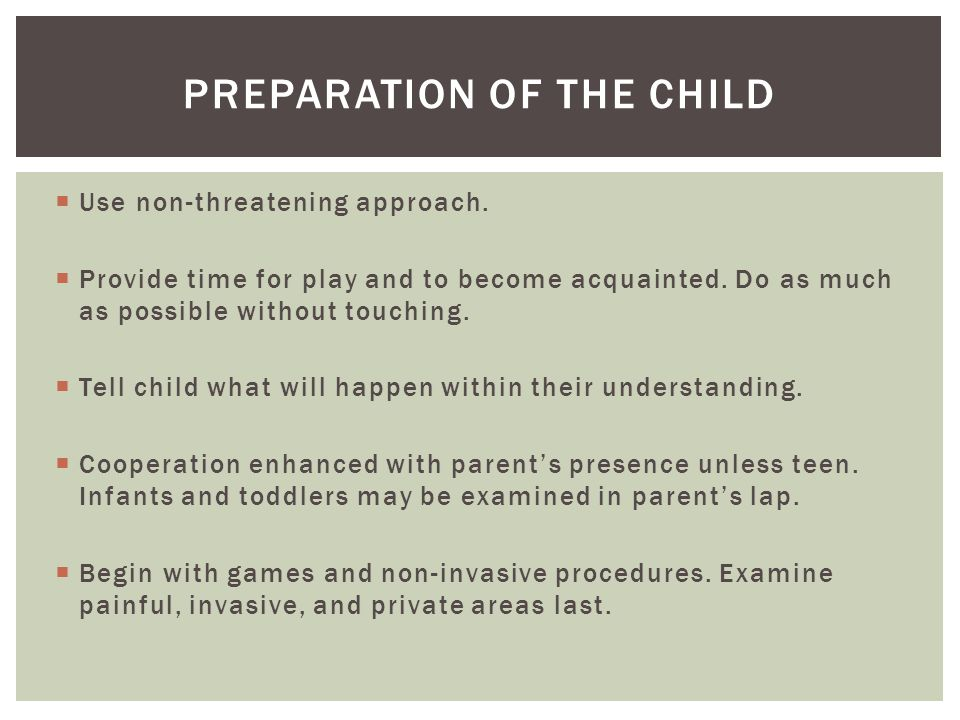 Preparation of the Child