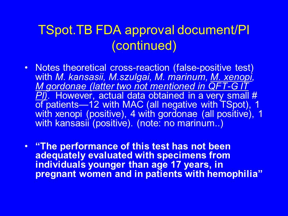 TSpot.TB FDA approval document/PI (continued)