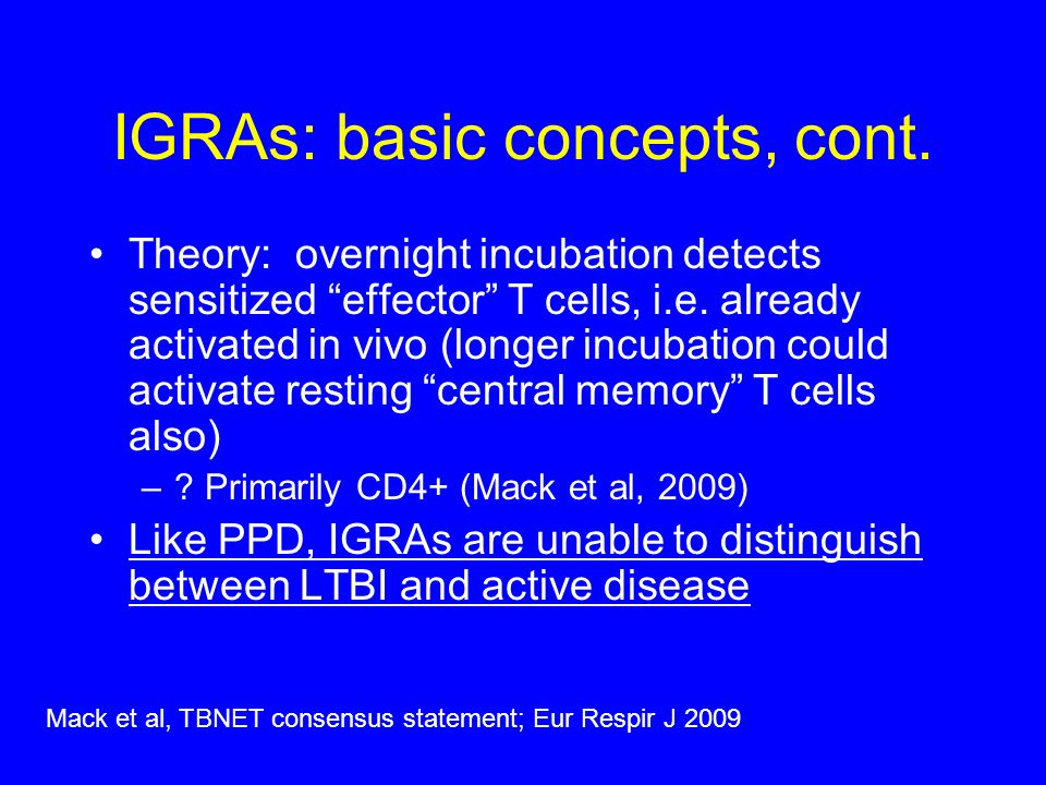 IGRAs: basic concepts, cont.