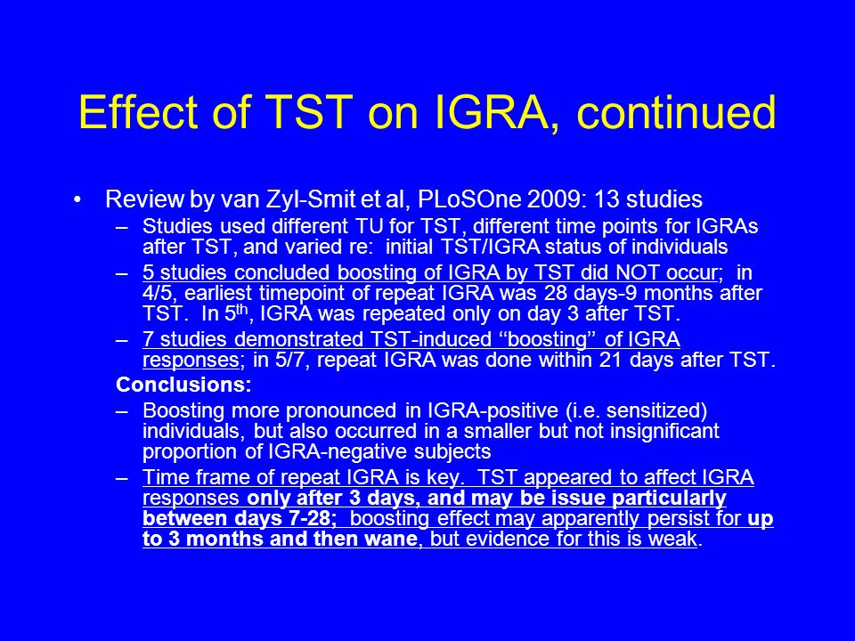 Effect of TST on IGRA, continued