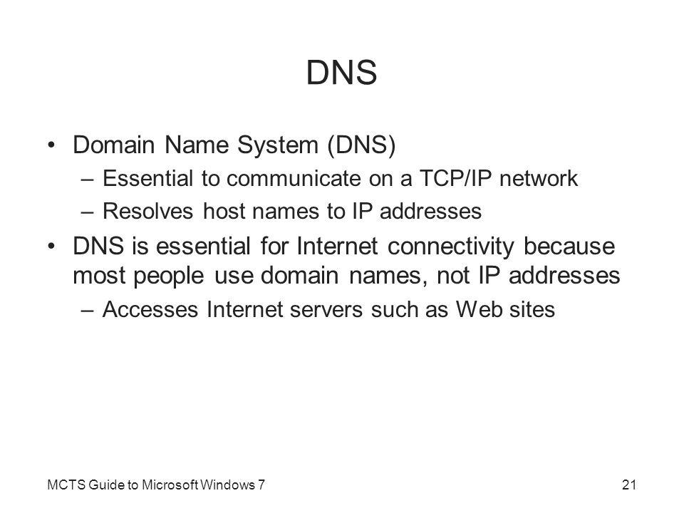 DNS Domain Name System (DNS)