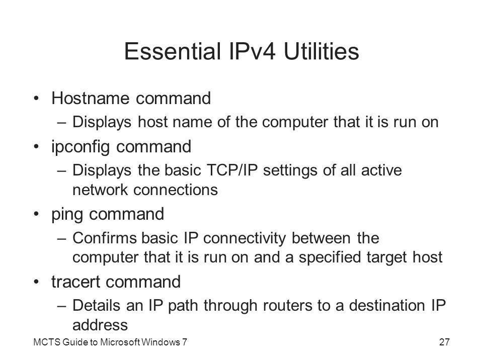 Essential IPv4 Utilities