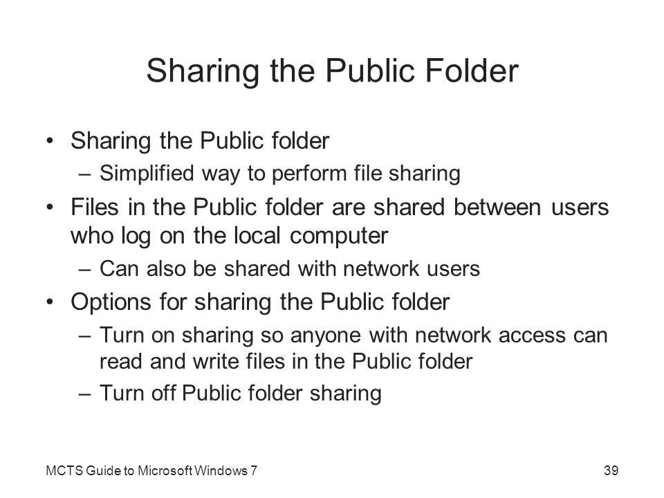 Sharing the Public Folder