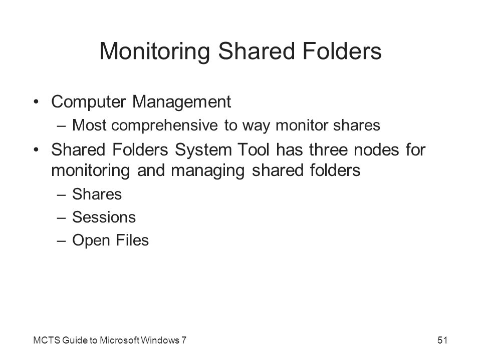 Monitoring Shared Folders