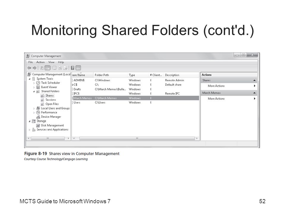 Monitoring Shared Folders (cont d.)