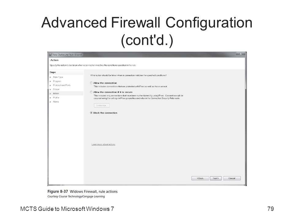 Advanced Firewall Configuration (cont d.)