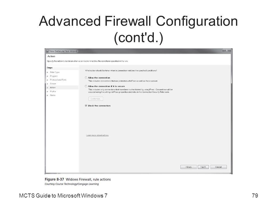 Advanced Firewall Configuration (cont d.)