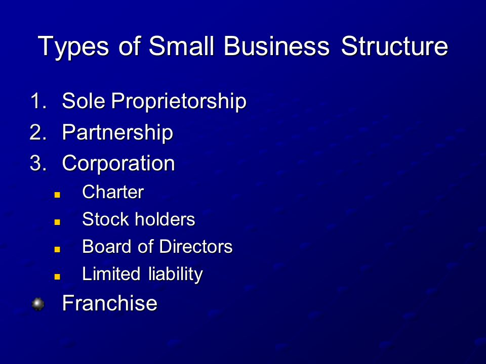 Types of Small Business Structure