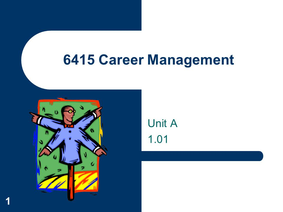 6415 Career Management Unit A 1.01
