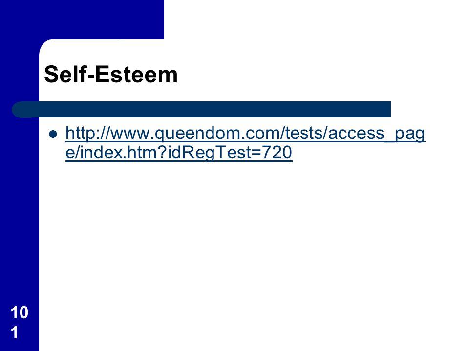 Self-Esteem http://www.queendom.com/tests/access_page/index.htm idRegTest=720
