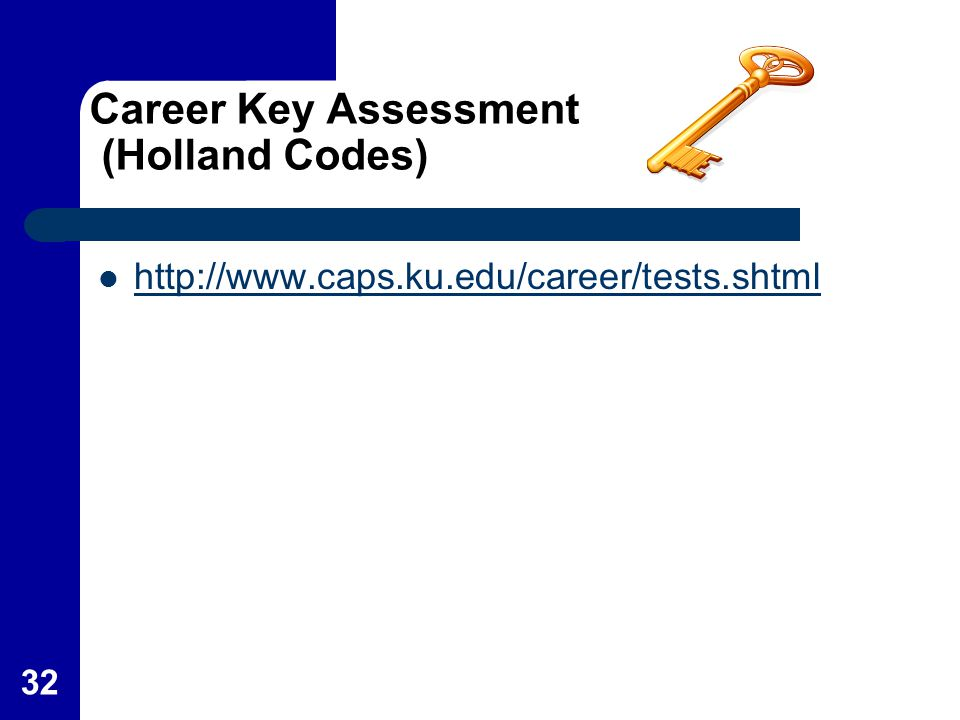 Career Key Assessment (Holland Codes)
