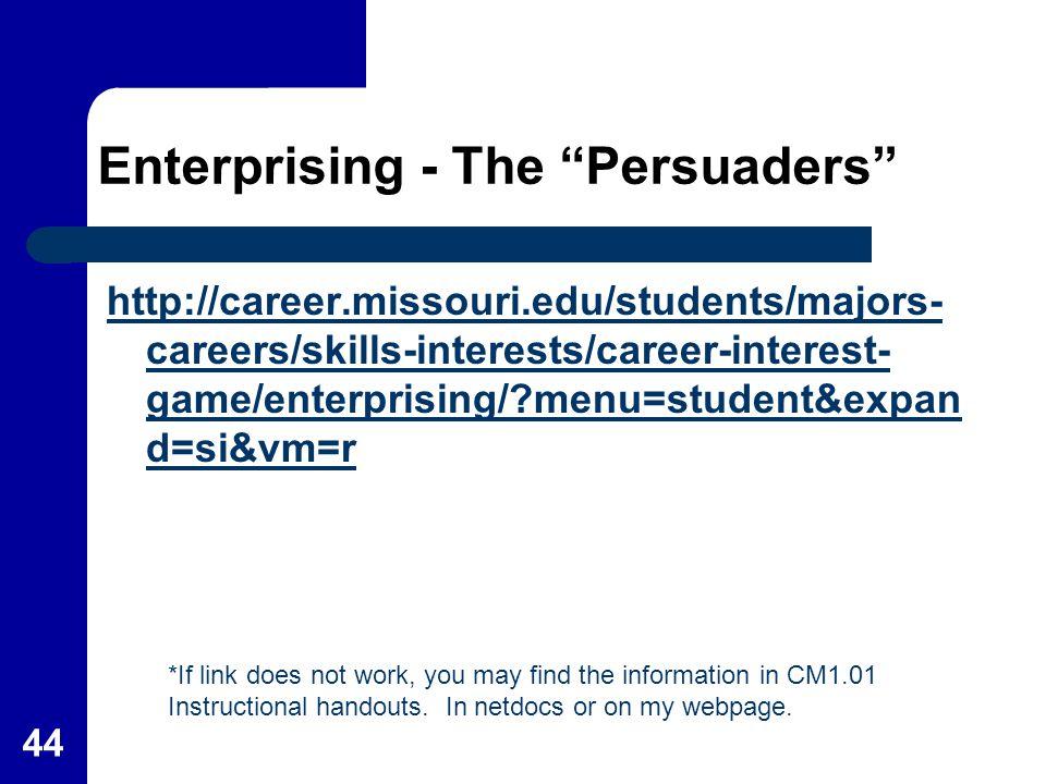 Enterprising - The Persuaders