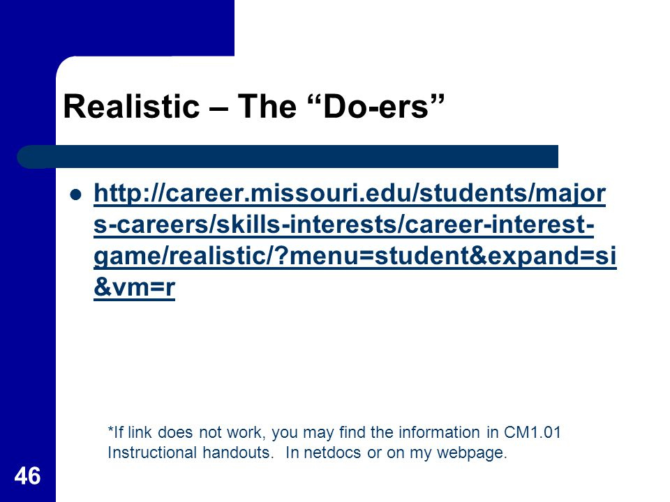 Realistic – The Do-ers