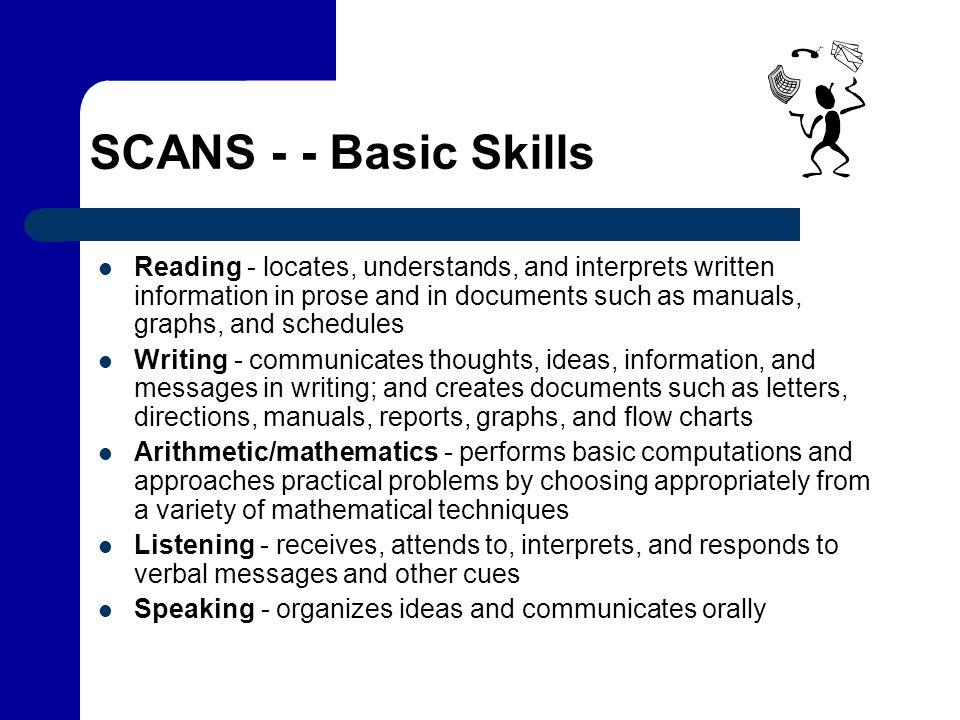 SCANS - - Basic Skills