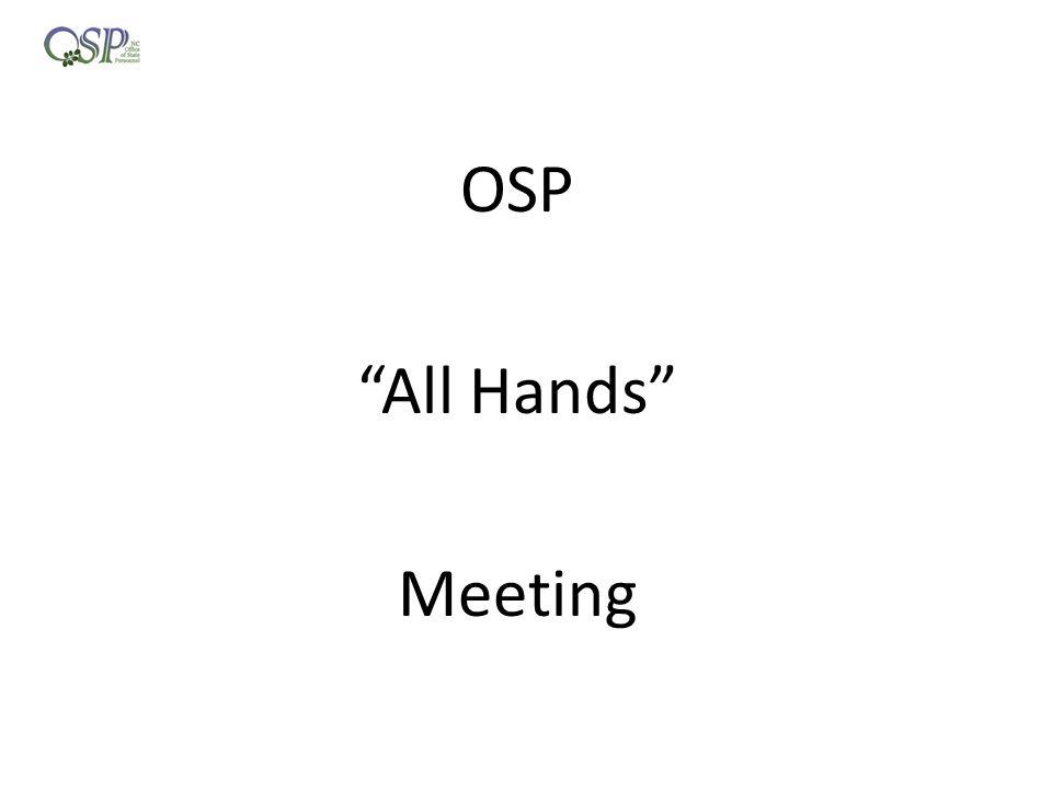 OSP All Hands Meeting