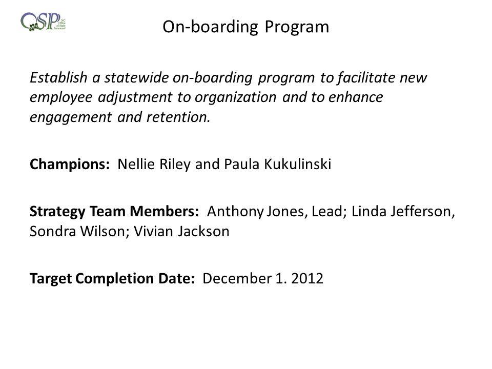 On-boarding Program