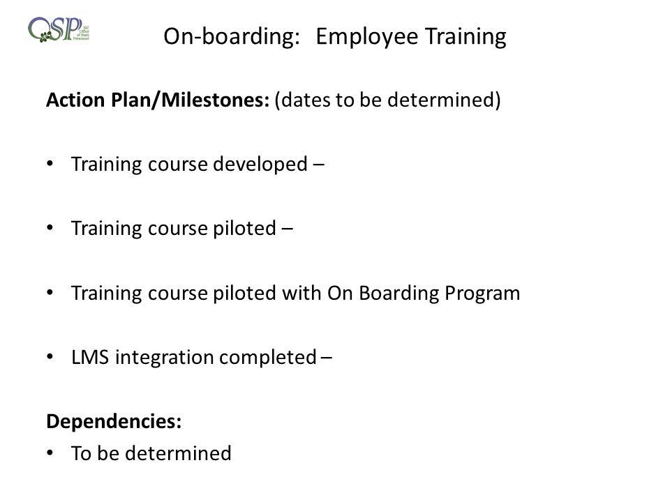 On-boarding: Employee Training
