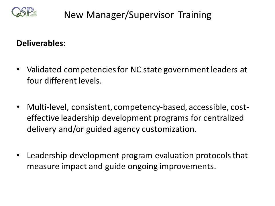 New Manager/Supervisor Training