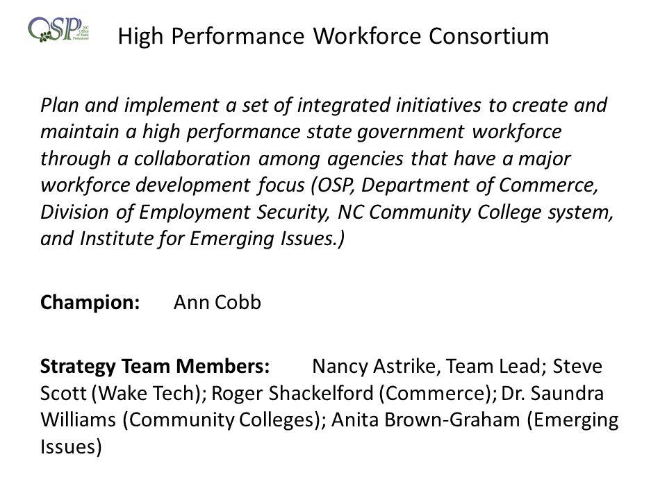 High Performance Workforce Consortium