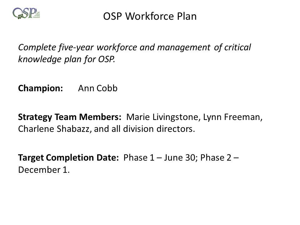 OSP Workforce Plan