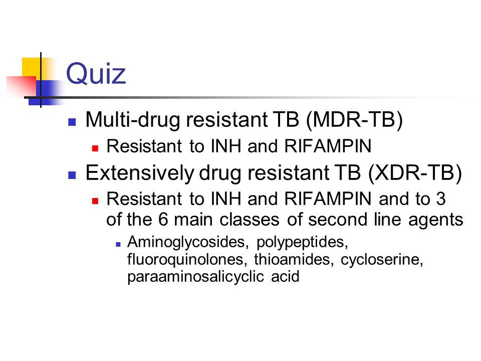 Quiz Multi-drug resistant TB (MDR-TB)