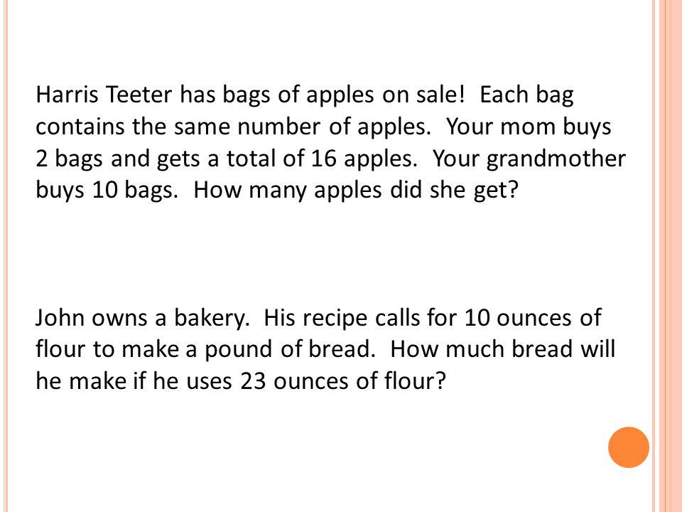 Harris Teeter has bags of apples on sale