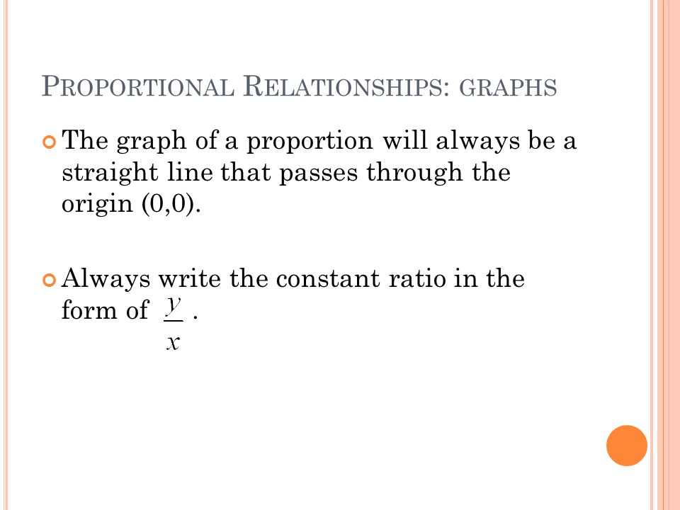 Proportional Relationships: graphs