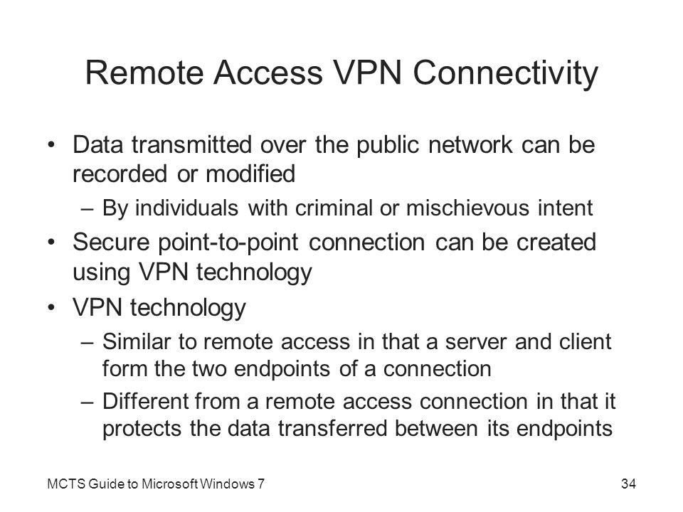 Remote Access VPN Connectivity