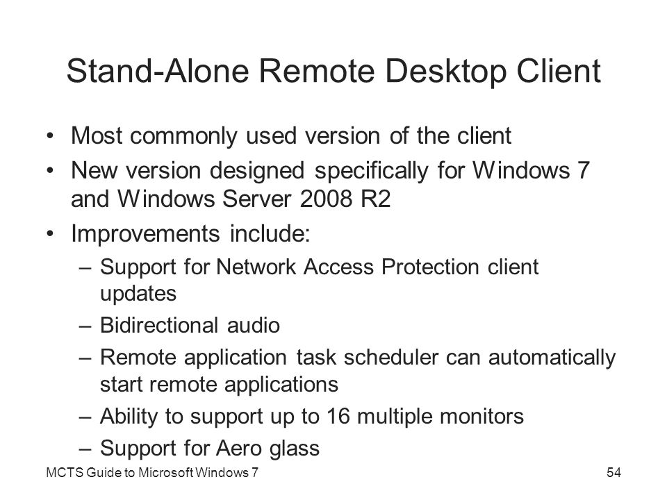 Stand-Alone Remote Desktop Client