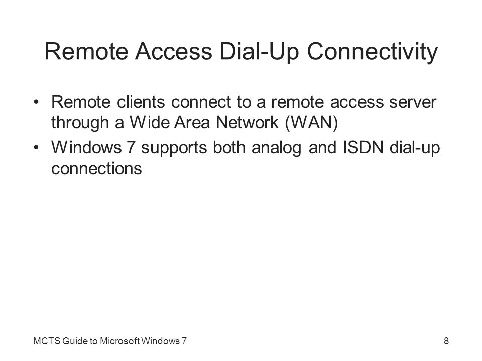 Remote Access Dial-Up Connectivity