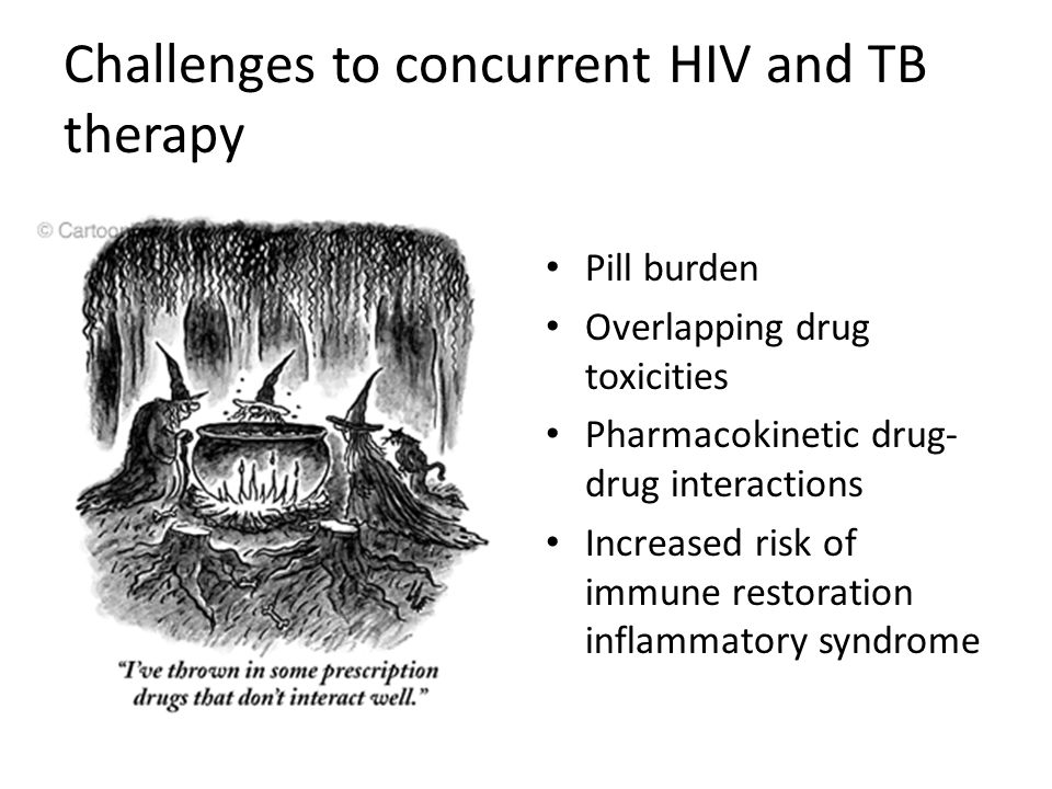 Challenges to concurrent HIV and TB therapy