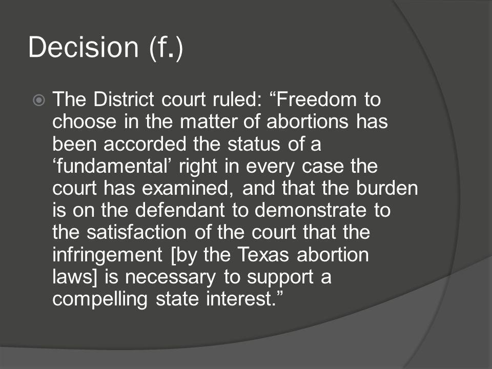 Decision (f.)