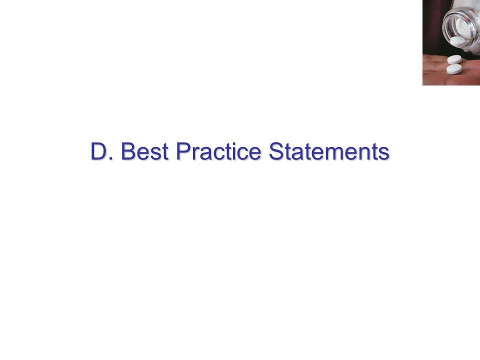 D. Best Practice Statements