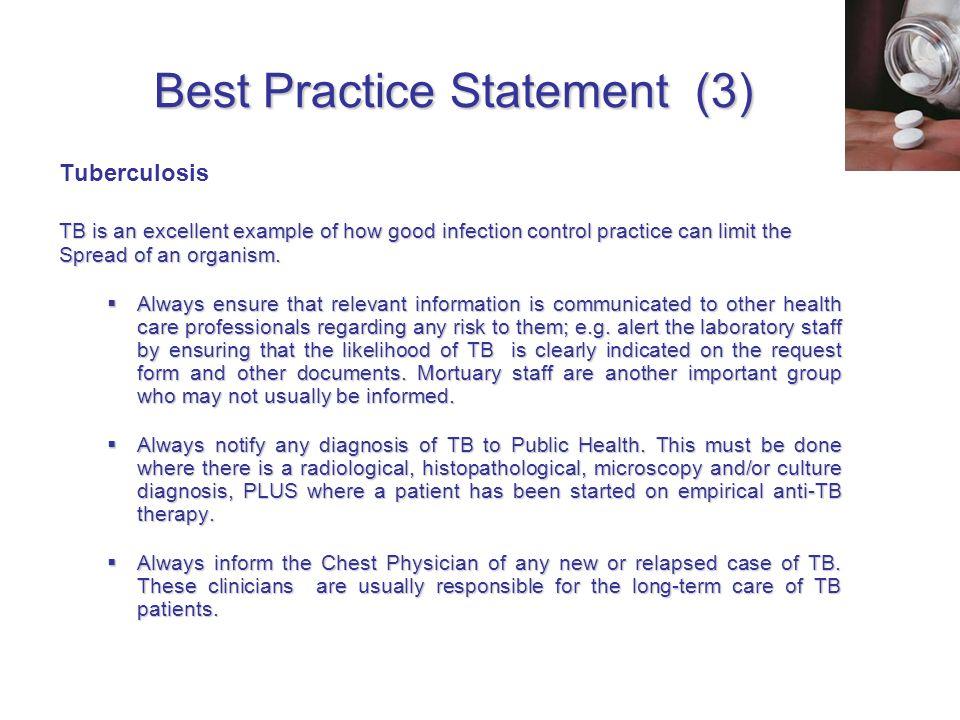 Best Practice Statement (3)